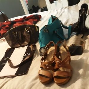 I have a lot of nice shoes clothing and purses